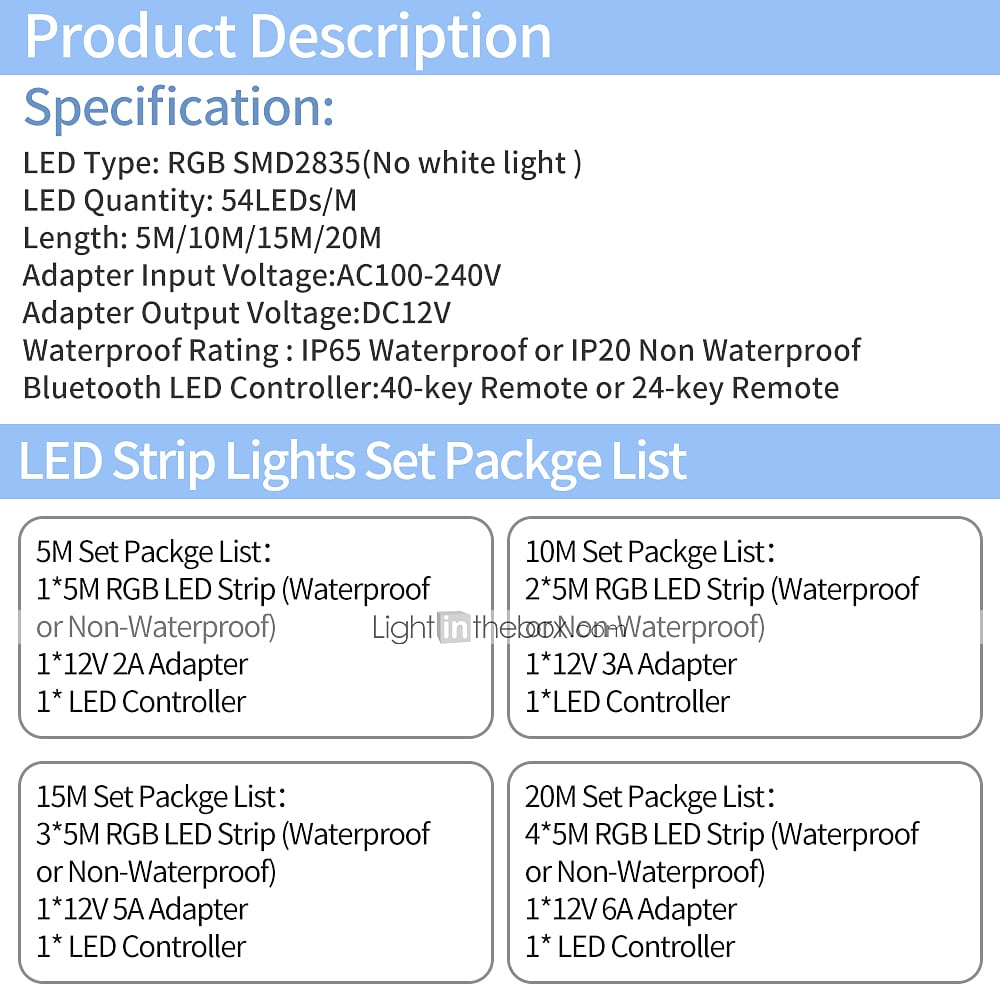 RGB LED Strip Extension Cable Single Round 1 // 1.5* // 2 // 2.5* // 3 // 5 M