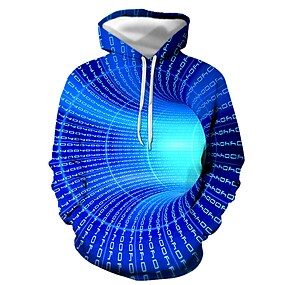cheap Men's Hoodies-Men's Pullover Hoodie Sweatshirt Graphic Daily Going out Casual Hoodies Sweatshirts  Blue Purple Red