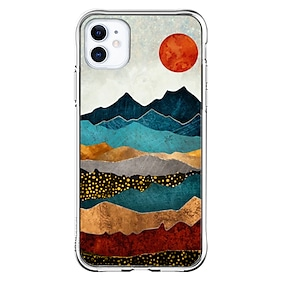 cheap iPhone Case-Special Design Landscape Case For Apple iPhone 12 iPhone 12 Pro Max iPhone XR Unique Design Protective Case Shockproof Transparent Pattern Back Cover TPU