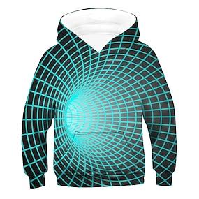 cheap Boys' Clothing-Kids Boys' Hoodie & Sweatshirt Long Sleeve 3D Light Blue Children Tops Active