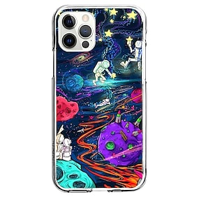 cheap iPhone Case-Astronaut Case For Apple iPhone 12 iPhone 11 iPhone 12 Pro Max Unique Design Protective Case Shockproof Back Cover TPU