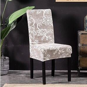 olcso -székhuzat étkező szék takaró szuper fit nyújtható mosható rövid étkező szék védőburkolat ülőlap takaró szálloda / étkező / szertartás / bankett lakodalom