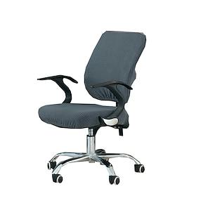 Недорогие -Чехол на стул для компьютерного офиса, эластичный вращающийся чехол для игрового сиденья, жаккард, синий, зеленый, мягкий, прочный, моющийся