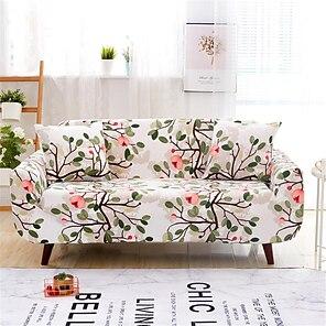 halpa -sohvanpäällinen sohvanpäällinen huonekalunsuoja painettu pehmeä joustava sohva vetoketju erittäin joustava kansi, joka sopii nojatuoliin / rakastaa istuinta / kolmipaikkaista / neljän istuttavaa /