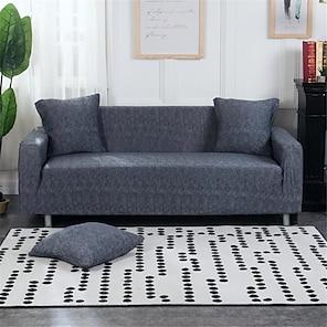 رخيصةأون -غطاء أريكة قابل للتمدد غطاء منزلق بطباعة هندسية واقي أثاث مقاوم للغبار مناسب لكرسي بذراعين / مقعدين / ثلاثة مقاعد / أربعة مقاعد / أريكة مقطعية