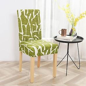 billiga -stolskydd matstol stol hölje super fit stretch avtagbar tvättbar kort matsal stol skydd skydd hölje för hotell / matsal / ceremoni / bankett bröllopsfest