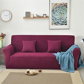halpa -sohvanpäällinen sohvanpäällinen huonekalunsuoja yksivärinen pehmeä joustava sohvan liukuva kansi erittäin joustava päällinen, joka sopii nojatuolille/ istuimelle/ kolmipaikkainen/ nelipaikkainen/ l