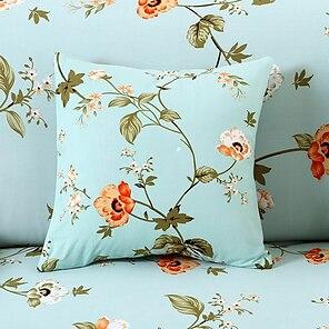 お買い得  -1個の装飾的な投球枕カバー枕カバークッションカバーベッドソファソファ18 * 18インチ45 * 45cm