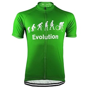 cheap Cycling Jerseys-21Grams Men's Short Sleeve Cycling Jersey Summer Yellow Red Black Evolution Bike Jersey Top Mountain Bike MTB Road Bike Cycling UV Resistant Quick Dry Moisture Wicking Sports Clothing Apparel