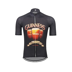 cheap Cycling Jerseys-21Grams Men's Short Sleeve Cycling Jersey Summer Spandex Polyester Dark Navy Oktoberfest Beer Bike Jersey Top Mountain Bike MTB Road Bike Cycling UV Resistant Quick Dry Breathable Sports Clothing