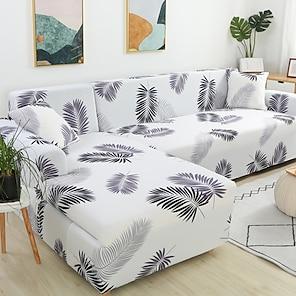 olcso -kanapéhuzat kanapéhuzat bútorvédő puha stretch kanapé csúsztatható takaró szuper nyújtható növényi nyomtatással huzat fotelbe / szerelmesülésbe / háromüléses / négyüléses / l alakú kanapéba