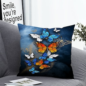 cheap Cushion Covers-1 pcs Polyester Pillow Cover & Insert, Animal Simple Classic Square Zipper Polyester Traditional Classic