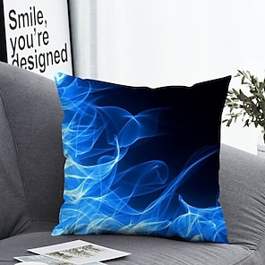 cheap Cushion Covers-1 pcs Polyester Pillow Cover Pillow Cover & Insert, 3D Simple Classic Square Zipper Polyester Traditional Classic