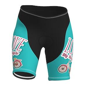 cheap Cycling Pants, Shorts, Tights-21Grams Women's Cycling Shorts Summer Spandex Polyester Bike Shorts Pants Padded Shorts / Chamois 3D Pad Quick Dry Moisture Wicking Sports Blue Mountain Bike MTB Road Bike Cycling Clothing Apparel