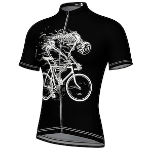 cheap Cycling Jerseys-21Grams Men's Short Sleeve Cycling Jersey Summer Spandex Polyester Blue Yellow Red Bike Jersey Top Mountain Bike MTB Road Bike Cycling Quick Dry Moisture Wicking Breathable Sports Clothing Apparel