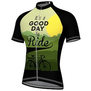 cheap Cycling Jerseys-21Grams Men's Short Sleeve Cycling Jersey Summer Spandex Polyester Blue Red Yellow Bike Jersey Top Mountain Bike MTB Road Bike Cycling Quick Dry Moisture Wicking Breathable Sports Clothing Apparel