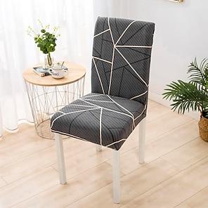 baratos -Capa para cadeira de cozinha Geométrica Fios Tingidos Poliéster Capas de Sofa