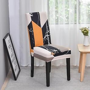 billiga -2021 ny högelastisk modetryck fyra säsonger universal supermjukt tyg retro het försäljning dammskydd stolskydd stolskydd stolskydd 45 * 45 * 55 (10)
