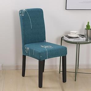 halpa -joustava keittiön tuolin päällinen slipcover ruokailujuhlakasveille korkea joustavuus muoti tulostus neljä vuodenaikaa universaali erittäin pehmeä kangas retro kuuma myynti