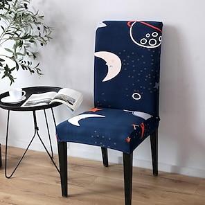 halpa -Keittiön tuolin päällinen Geometrinen Lankavärjätty Polyesteri slipcovers