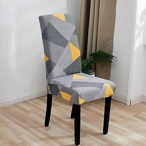 billige -stretch køkken stol dække slipcover til spisning fest planter blomst fire sæsoner universal super blødt stof retro hot salg x