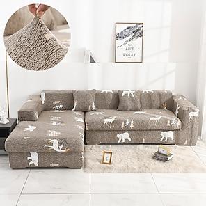 halpa -joustava sohvan päällinen slipcover joustava poikkipintainen sohva nojatuoli loveseat 4 tai 3 istuttava l muoto eläin pehmeä kestävä pestävä