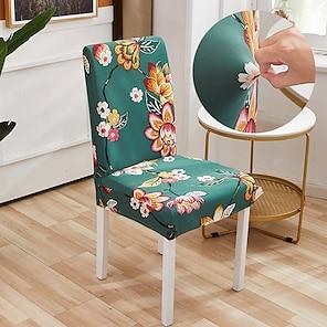 ieftine -dragoste balon imprimare geometrică 1buc capac scaun pentru sufragerie mandala cu scaune cu imprimeu acoperă spate înalt pentru petrecere de nunta nunta decor de Crăciun