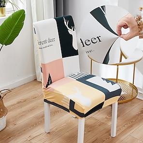 ieftine -viață simplă 1buc capac scaun pentru sala de mese mandala print scaune acoperă spate înalt pentru sufragerie petrecere nunta decor de Crăciun