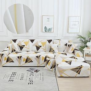 olcso -káprázatos arany vonalú kanapéhuzat 1 részes kanapéhuzat, amely 1–4 személyes l-alakú kanapéhoz illeszkedik, puha nyújtású slipcover spandex jacquard anyagból, könnyen felszerelhető