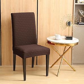povoljno -rastezljiva navlaka za kuhinjsku stolicu navlaka mjehurića za večeru smeđa obična čvrsta mekana izdržljiva periva