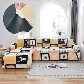 billige -Enkelt sofadeksel 1-delt sofadeksel passer til 1-4 seter l-formet sofa myk stretch stretchcover spandex jacquard stoff lett å installere (1 gratis putetrekk)