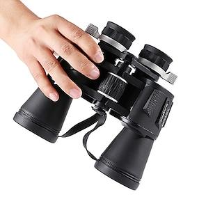 baratos -20 X 50 mm Binóculos Lentes Ajustável Maleta Prisma Porro Ampliação 58/1000 m Revestimento Múltiplo BAK4 Caça Espetáculo Exercicio Exterior