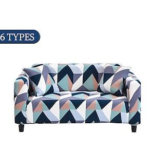 povoljno -rastezljiva navlaka za kauč navlaka elastični presjek kauč fotelja ljubavno sjedalo 4 ili 3 sjedala l oblik geometrijski mekano izdržljivo perivo