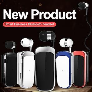 billige -k52 kraveklip bluetooth headset bluetooth5.0 ergonomisk design, der kan trækkes ind i øret til apple samsung huawei xiaomi mi hverdagsbrug på rejse udendørs mobiltelefon