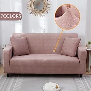 billige -stretch sofa cover slipcovers elastisk altomfattende sofa etui for forskjellige former sofa loveseat stol l-style sofa case passer for 1-4 pute sofa og l form sofa (1 stk gratis send et putetrekk)