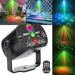abordables -60 modèles rvb scène lumières commande vocale musique led disco lumière fête spectacle laser projecteur lumières effet lampe avec contrôleur (rechargeable)