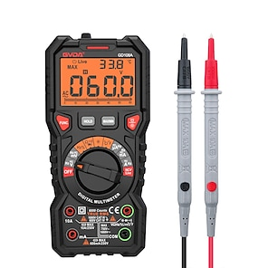 cheap -GVDA  Digital Multimeter Ture RMS Auto Range 6000 Counts Multimetro 1000V 10A AC DC Ohm Hz NCV Live Voltage Temperature Meter