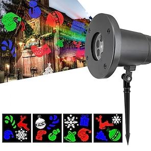 abordables -projecteur lumière lumières de jardin projecteur étanche projecteur led rotatif fête de noël en plein air rouge