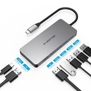 economico -LENTION Alta velocità Supporta la funzione di consegna dell'alimentazione C45H USB 3.0 USB C a USB 3.0 HDMI PD 3.0 Hub USB 7 Porti Per Windows, PC, laptop