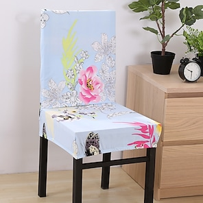 tanie -2021 nowa wysoka elastyczność drukowanie mody cztery pory roku uniwersalna super miękka tkanina retro gorąca sprzedaż osłona przeciwpyłowa pokrowiec na siedzenie pokrowiec na krzesło pokrowiec na