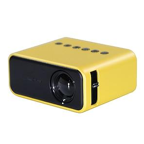 abordables -Sortie d'usine YZ03 LED VidéoprojecteurUltra-Portables Haut-parleur intégré Synchroniser l'écran du smartphone 320x240 6500 lm Compatible avec USB TF