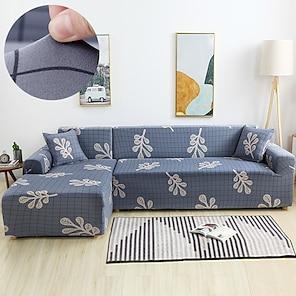 olcso -kék stílusú életű kanapéhuzat 1 részes kanapéhuzat 1-4 személyes l-alakú kanapéhoz, puha, rugalmas, csúszásgátló, spandex jacquard szövet, könnyen felszerelhető (1 ingyenes párnahuzat)