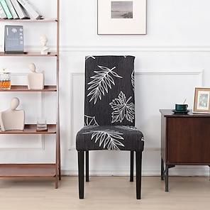 ieftine -husa scaun elastic husa din poliester imprimata plantelor husa scaun