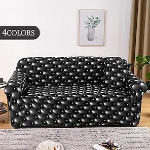 tanie -Rozciągliwa narzuta na sofę narzuta elastyczna kanapa segmentowa fotel loveseat 4 lub 3 osobowa kształt l streszczenie miękka trwała zmywalna