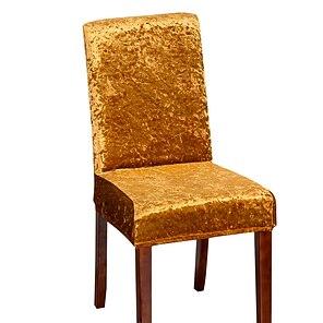 ieftine -Husă de scaun de bucătărie extensibilă, hârtie de catifea, pentru petrecerea mesei, simplă, moale, detașabilă, lavabilă
