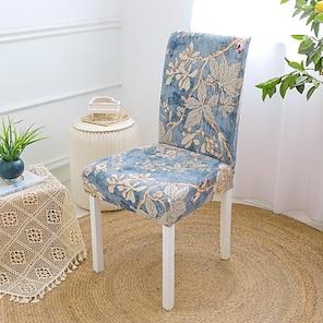 billige -strekk kjøkkenstol trekk til dekkfest fest blomster blomst myk slitesterk vaskbar myk slitesterk vaskbar