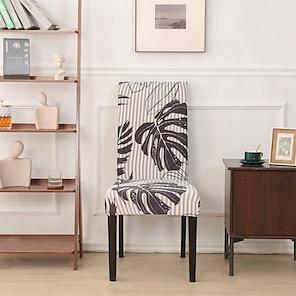 halpa -joustava tuolin päällinen kasvi painettu polyesteri kansi jakkara kansi