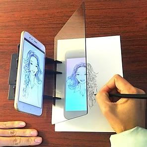 economico -Mirror Reflection Drawing Board Tavoletta da scrittura LCD da disegno elettronico Doodle Board 12/9/6.5 pollice ABS