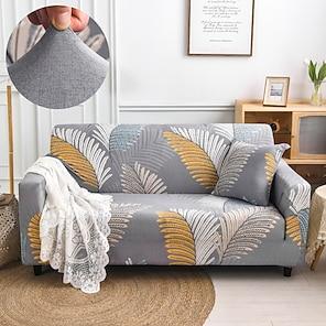 tanie -Rozciągliwa narzuta na sofę narzuta elastyczna kanapa segmentowa fotel loveseat 4 lub 4 lub 3 osobowa l kształt czarny szary kwiatowy kwiat miękki trwały zmywalny