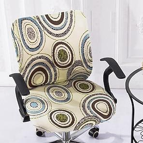 baratos -capa de cadeira de escritório de computador esticada rotativa para jogos capa deslizante capa de proteção geométrica contra poeira capa de assento macio durável lavável